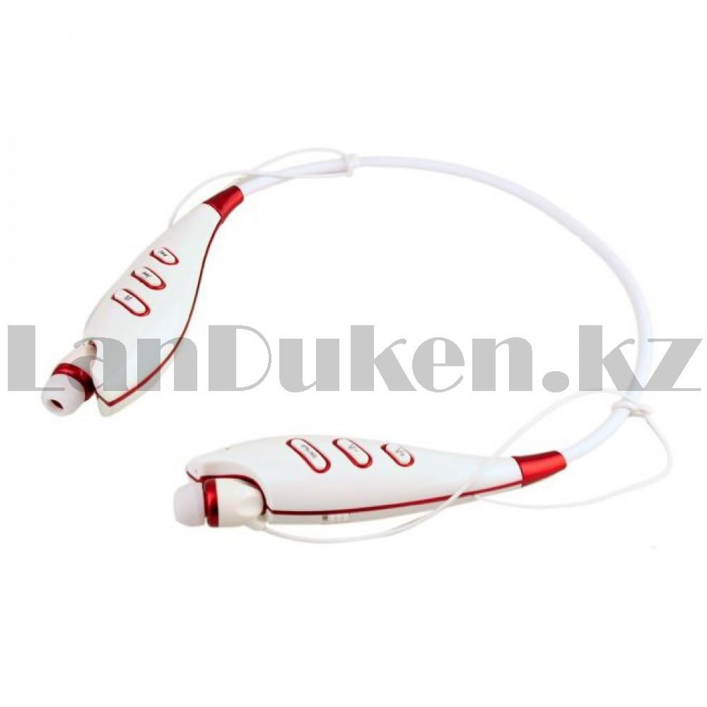 Беспроводные стерео Bluetooth наушники LG-S740T белые - фото 4