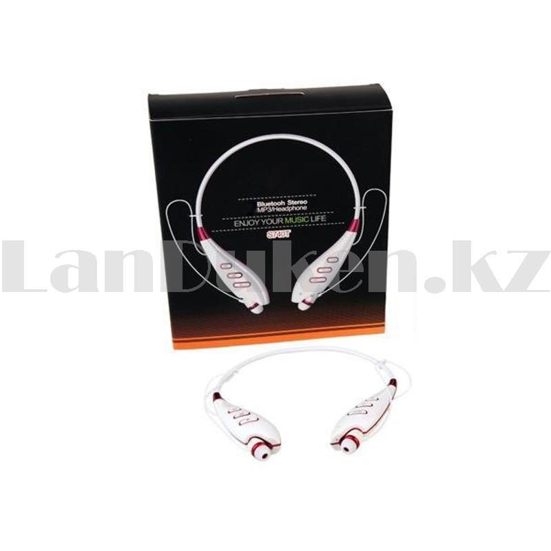 Беспроводные стерео Bluetooth наушники LG-S740T белые - фото 9