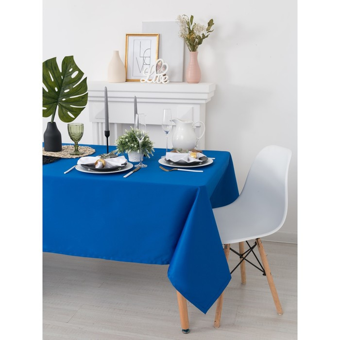 Скатерть «Этель», размер 150х150 см, цвет синий, с ГМО