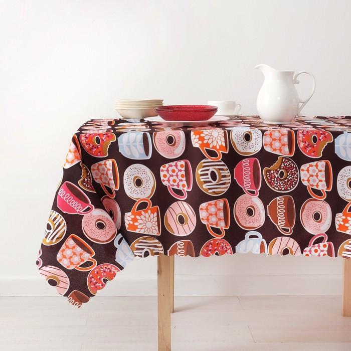 Скатерть «Доляна» Пончики 140×180 см, 100% п/э