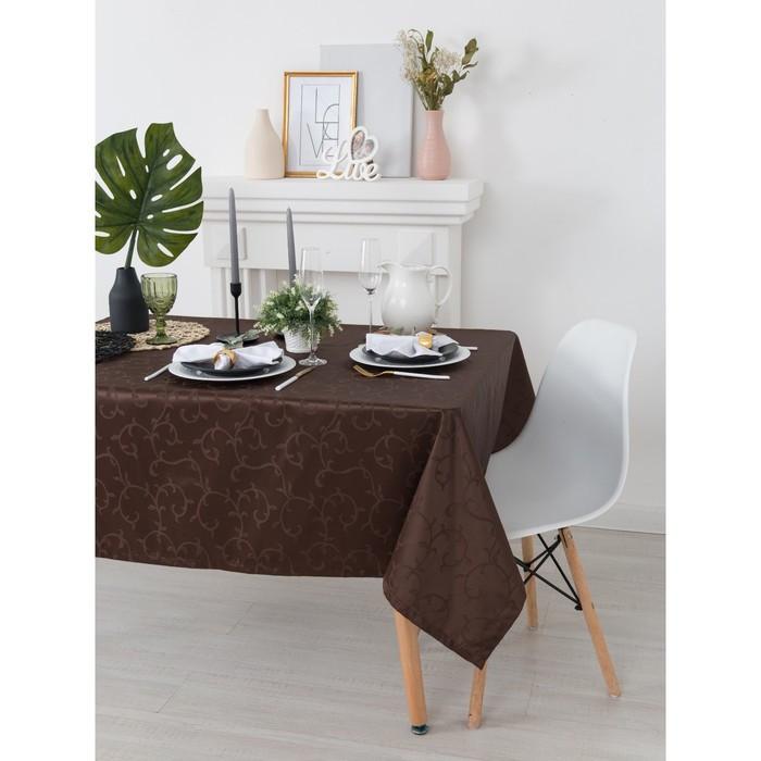 Скатерть «Этель», размер Вензель 150х300 см, цвет шоколад