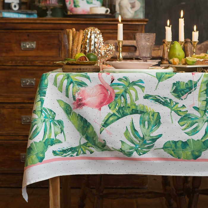 """Скатерть """"Доляна"""" Tropical kitchen 180х144 см, 100% хлопок, 164 г/м2"""