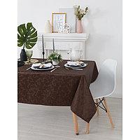 Скатерть «Этель», размер Вензель 150х200 см, цвет шоколад