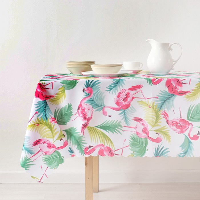 Скатерть «Доляна» Фламинго 150×250 см, 100% п/э