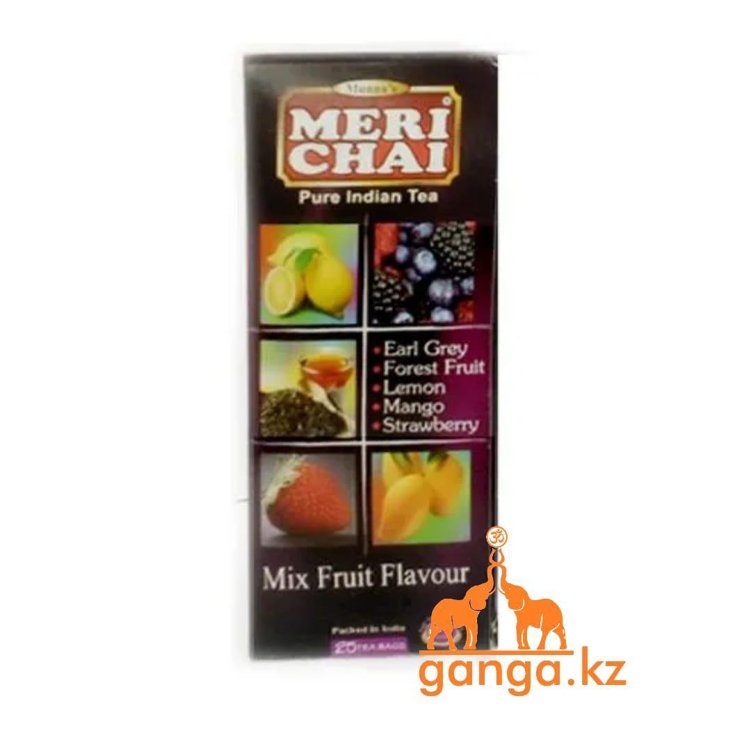 Мери чай черный Фруктовый Микс (Mix Fruit Flavour Meri Chai), 25 пакетиков