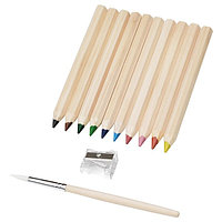 Карандаш цветной МОЛА 10 шт, кисточка. ИКЕА, IKEA, фото 1