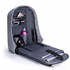 Рюкзак Антивор с USB зарядкой. С Днем Автомобилиста!, фото 3
