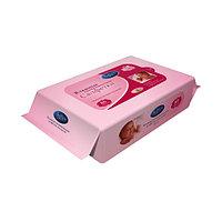 Softex Влажные салфетки для детей с лосьоном 80 штук Розовые