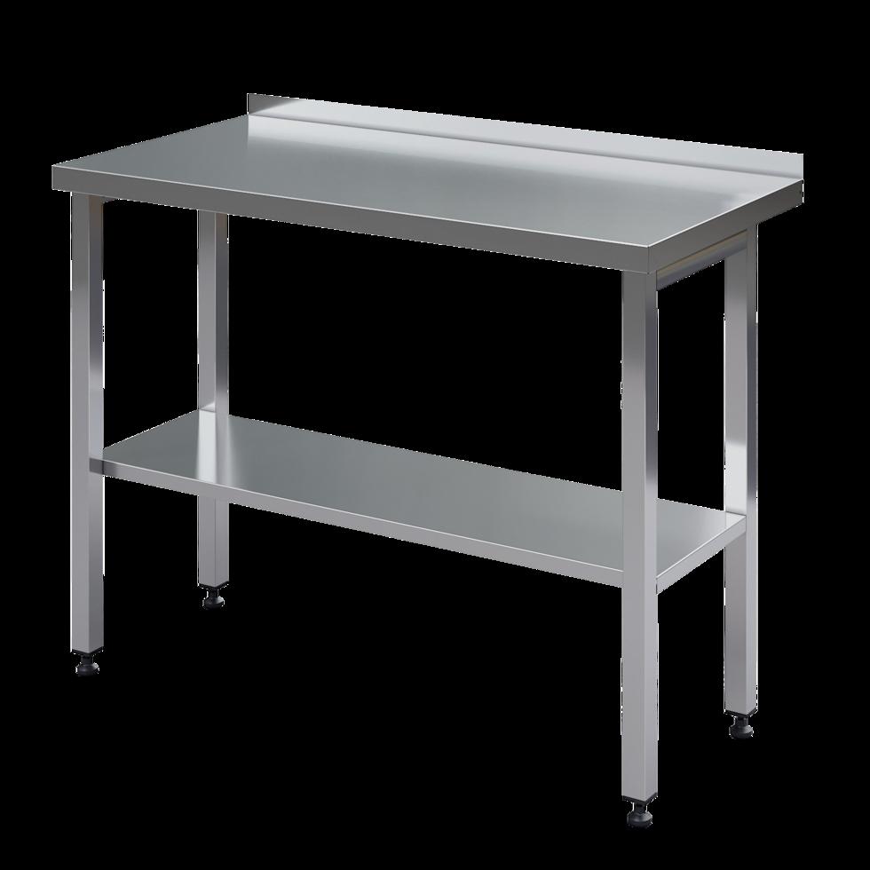 Стол, нержавеющая сталь, открытый, с бортом