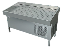 Прилавок холодильный среднетемпературный «Рыба на льду» ПХС-1,55/0,85 (встроенное холодоснабжение)