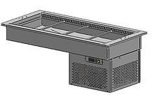Ванна встраиваемая ВВХС-1,153/0,7 (3*GN 1/1, встроенное холодоснабжение, агрегат в кожухе)