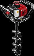 Мотобур (бензобур) со шнеком, d=60-200 мм, 52 см3, 1 оператор, ЗУБР, фото 1