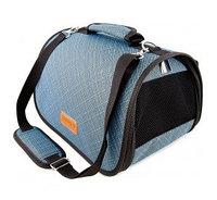 Сумка-перeноска Saival с карманом, Бамбук голубой S 36*23*24см