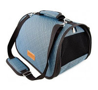 Сумка-перeноска Saival с карманом, Бамбук голубой M 46*28*27см, фото 1