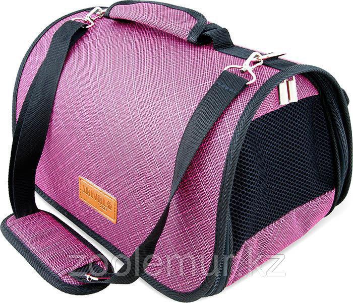 Сумка-перeноска Saival с карманом, Бамбук розовый M 46*28*27см