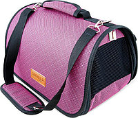 Сумка-перeноска Saival с карманом, Бамбук розовый M 46*28*27см, фото 1