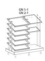 Диспенсер для подносов, контейнеров и стаканов Apach Chef Line LDTCG713