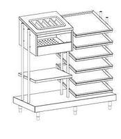 Диспенсер для подносов, приборов, стаканов и хлеба Apach Chef Line LDTСGB713