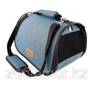 Сумка-перeноска Saival с карманом, Бамбук голубой M 46*28*27см