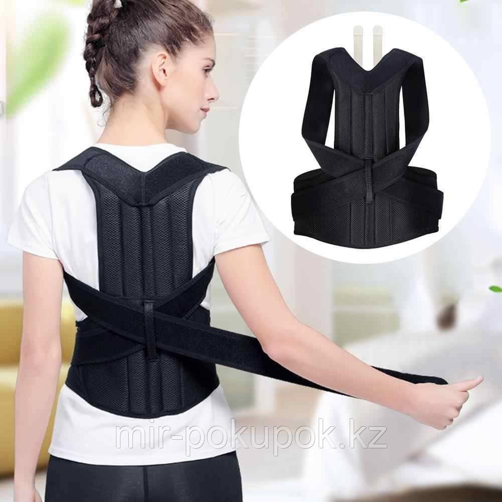 Корректор осанки Самурай c 2-мя ребрами жесткости / корсет для спины универсальный для мужчин и женщин