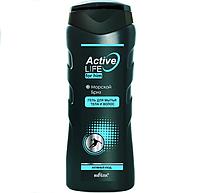 BV Active Life Гель для мытья тела и волос для него Морской бриз 250 мл