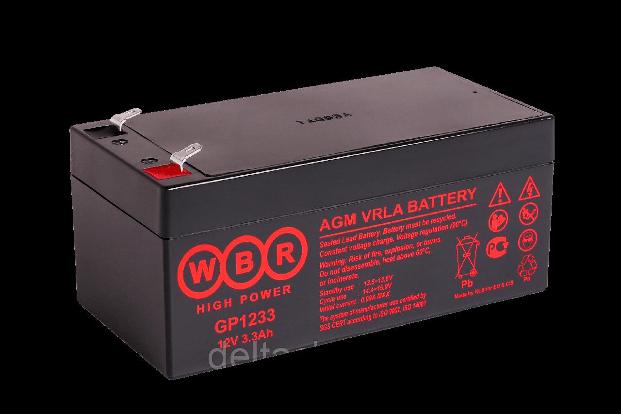 WBR GP1233 3.3A F2 (90*70*101mm) AGM аккумулятор.