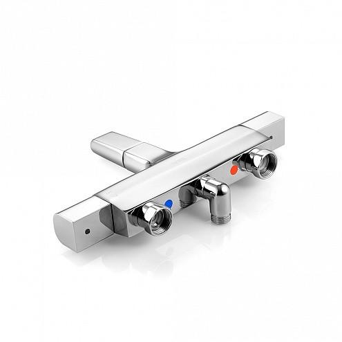 Универсальный смеситель для ванны с термостатом IDDIS Uniterm