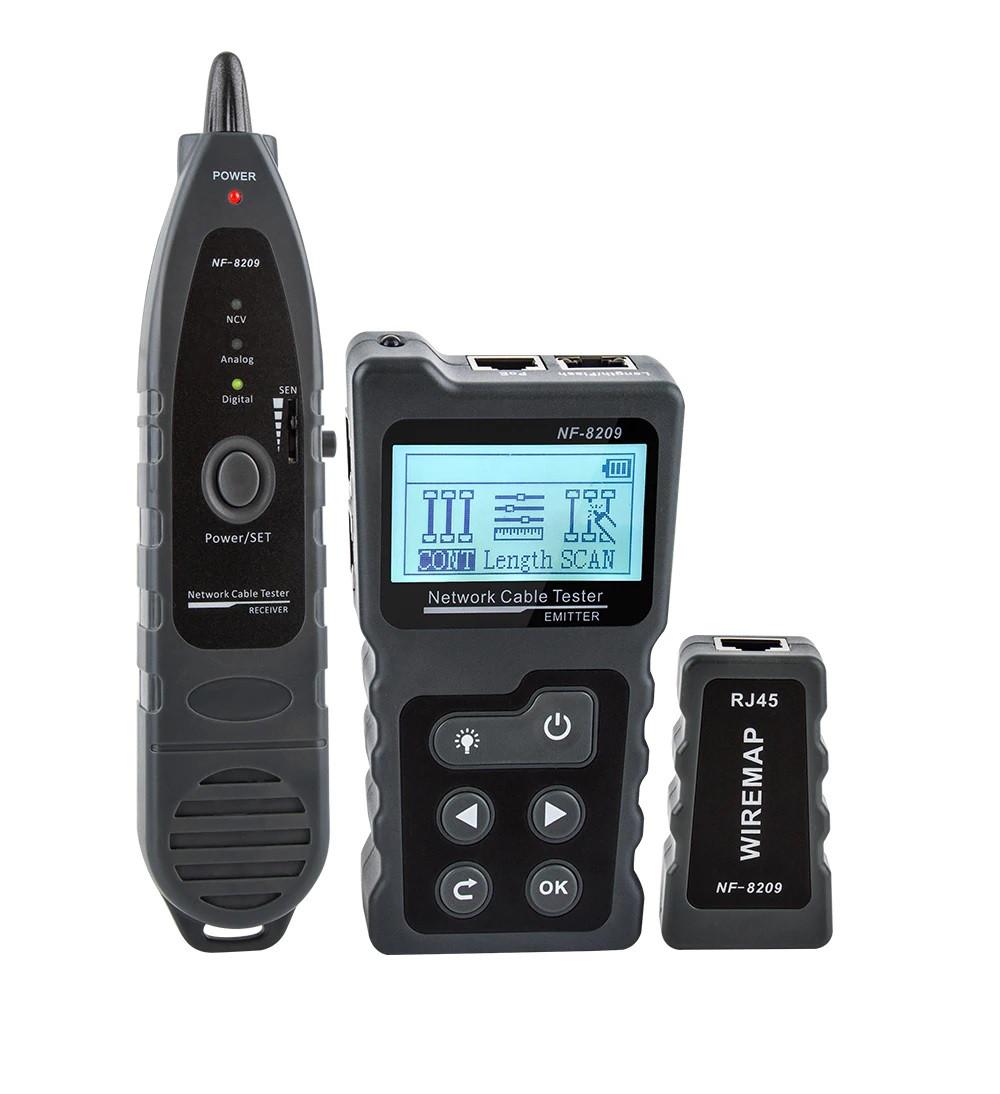 Многофункциональный тестер для LAN, телефонного  кабеля, определение PoE, WIREMAP, фонарь
