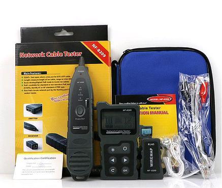 Многофункциональный тестер для LAN, телефонного  кабеля, определение PoE, WIREMAP, фонарь, фото 2