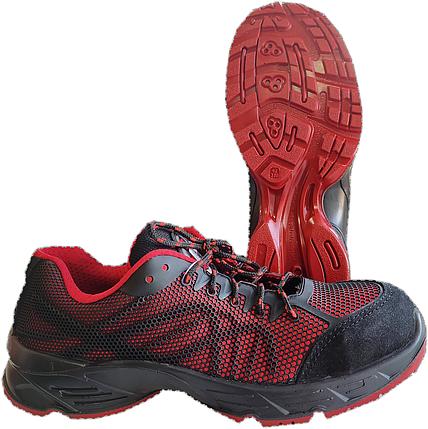 Ботинки-кроссовки черно-красные, фото 2