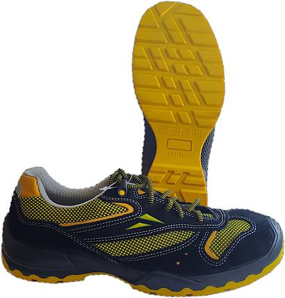 БОТИНКИ-кроссовки черно-желтые, фото 2