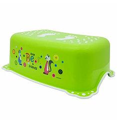 MALTEX Подставка под ноги Мишка и друзья Зеленый/белая резинка