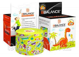 Кинезио тейп для детей BBTape™ 5см × 5м (серия KIDS) Машинки лайм