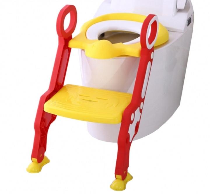 Сиденье для унитаза с лесенкой и ручками Pituso жёлтый