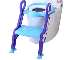 Сиденье для унитаза с лесенкой и ручками Pituso голубой