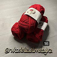 Трикотажная пряжа для ручного вязания бордо