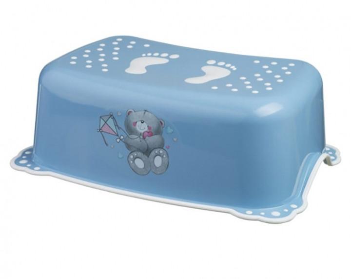 MALTEX Подставка под ноги Медвежонок Синий/белая резинка