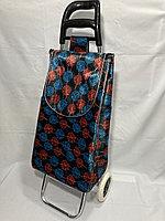 Хозяйственная сумка-тележка для продуктов на 2-х колесах.Высота 95 см, ширина 35 см, глубина 25 см., фото 1