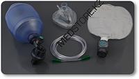 Мешок для ручной ИВЛ типа Амбу, для взрослых, одноразовый, V 1500мл, с резервуарным мешком из ПВХ, кислородной