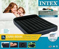 64142 Надувной матрас с подголовником Pillow Rest Classic Bed Fiber-Tech, 137х191х25см