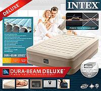 64428 Надувная кровать Ultra Plush Bed 152х203х46см, встроенный насос 220V