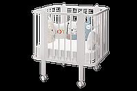 Детская кроватка - трансформер Оливия + 2 матраса. цвет белый