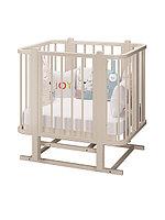 Детская кроватка - трансформер Оливия + 2 матраса. цвет слоновая кость