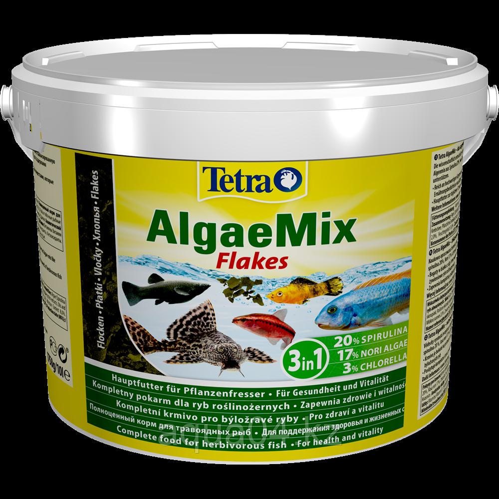 Tetra Algae Mix 10 л (ведро) хлопья растительные