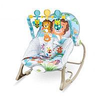 Кресло-качалка Ibaby с игрушками и вибрацией Львенок