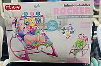 Детский Шезлонг Rocker Ibaby розовый/жираф