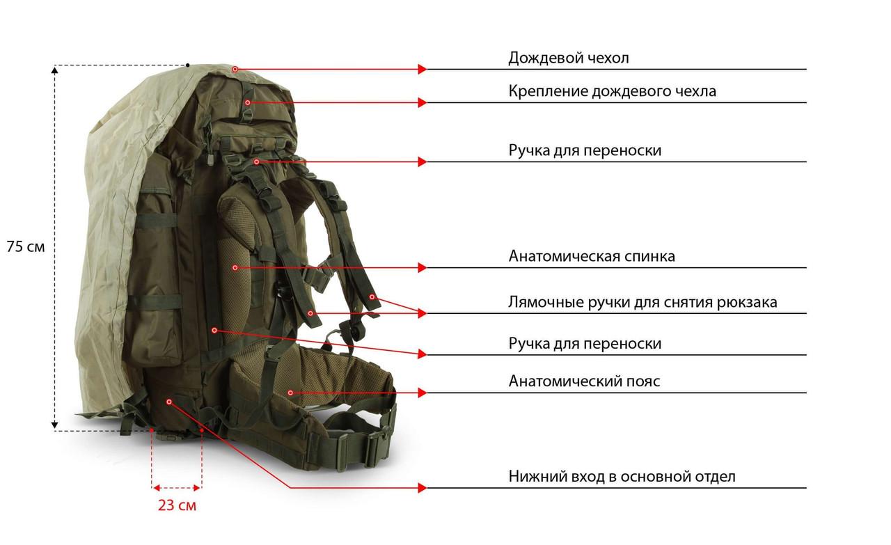 Рюкзак  десантный РД-98 армейский 65 л.
