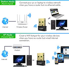 Беспроводной USB Wi-FI адаптер EDUP Mini. 150 Мб/с., фото 3