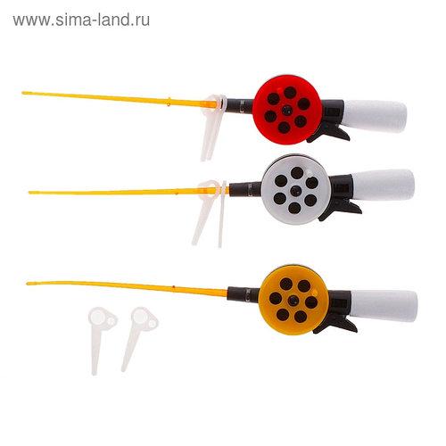 Удочка зимняя «Пирс», ПК55 - М, с короткой пенопластовой ручкой, цвет микс