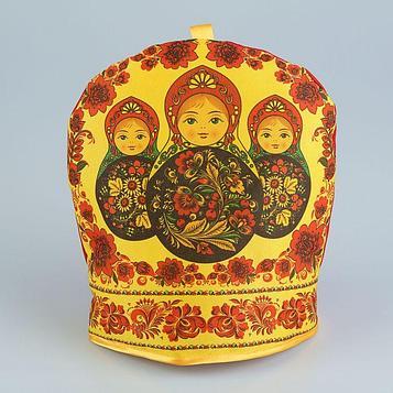 Грелка на чайник «Матрёшки», хохлома